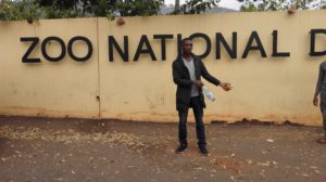 Chukwudi at the Zoo Entrance