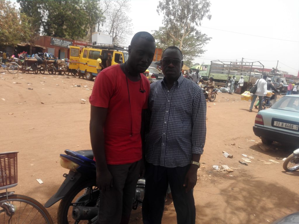 With Uncle Boro. He took me round  Burkina