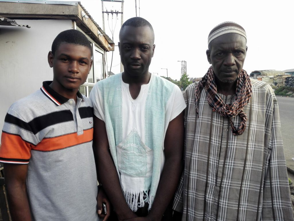 With my Burkinabe Friends. Musa and Dad