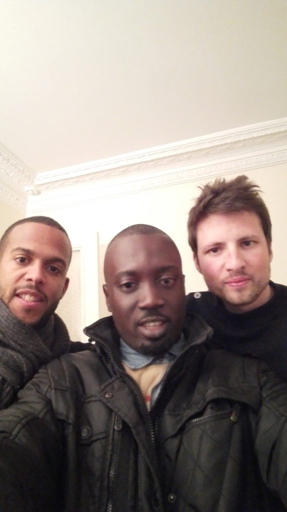 With Mike and Cyrille. Mike is half Nigerian and French