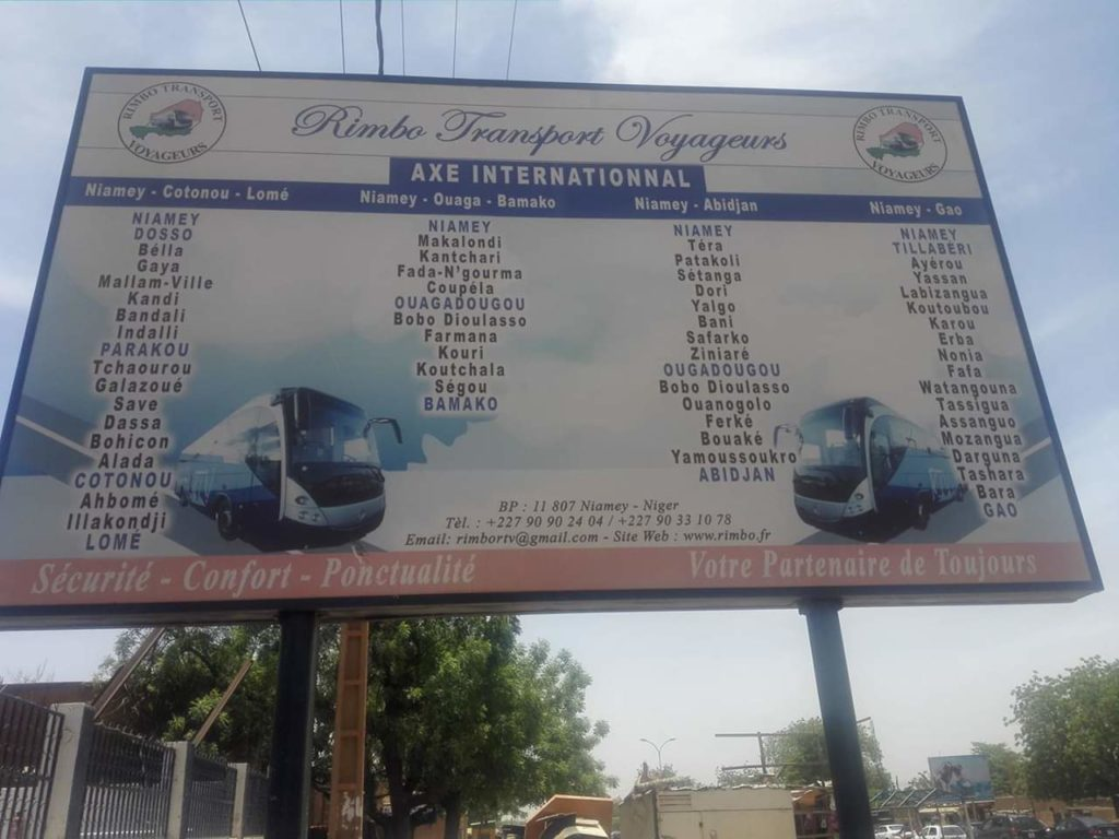 International Routes from Niamey